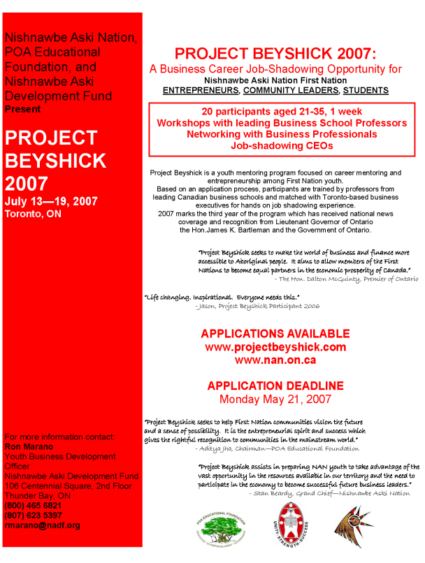 Project Beyshick 2007 flyer